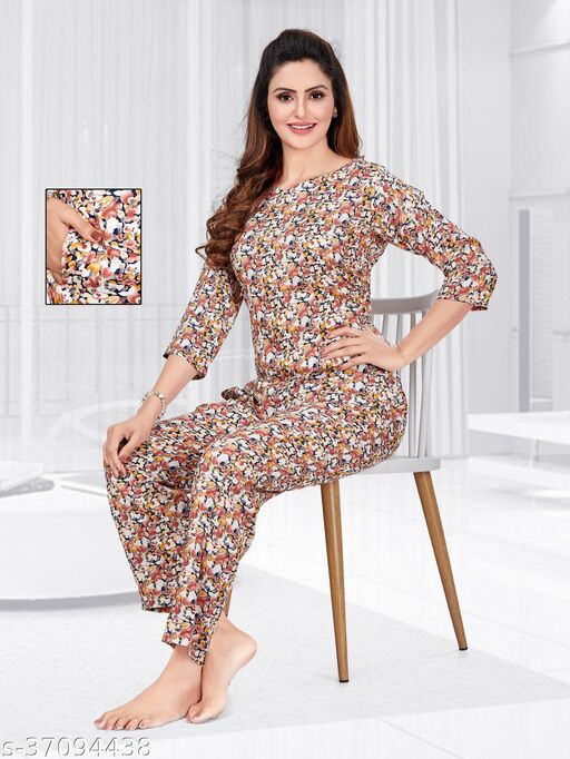 OLD NAVY FLORAL SUMMER SOFT PREMIUM NIGHT SUIT