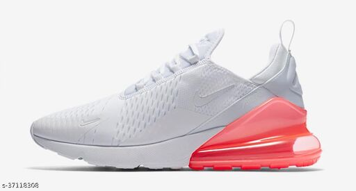 Airmax 270 Man's White & London Red Sport/Running Shoes