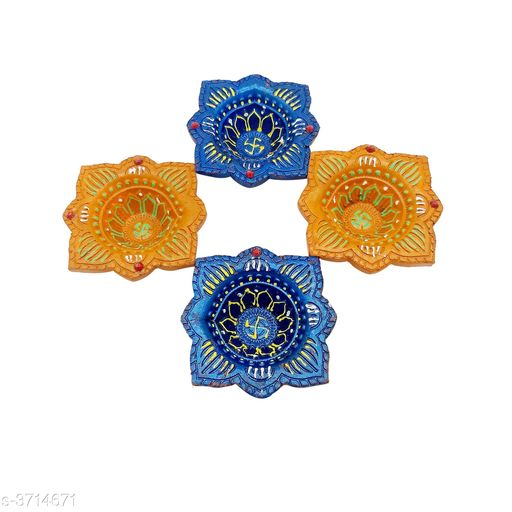 Festive Diyas & Candles Home Decorative Diya & Candle  *Material* Wax   *Size* Free Size   *Description* It Has 4 Pieces Of Diyas  *Sizes Available* Free Size *    Catalog Name: Trend Home Decorative Diya & Candles Vol 1 CatalogID_519045 C128-SC1604 Code: 091-3714671-