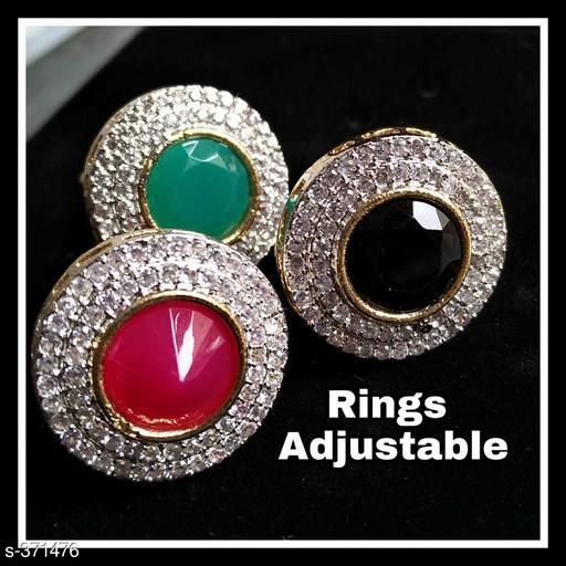 Elegant American Diamond Ring (Pack of 3)