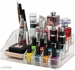 16 Section Acrylic Makeup Cosmetic Organizer (Tools not included)