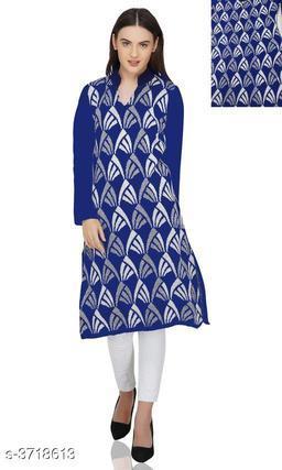 Women's Woven Design Wool Kurti