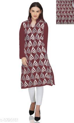 Olla Stylish Wool Solid Women's Kurtas