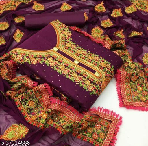 Trendy Soft Cotton(Zari Embroided) Suits &  Dress Materials