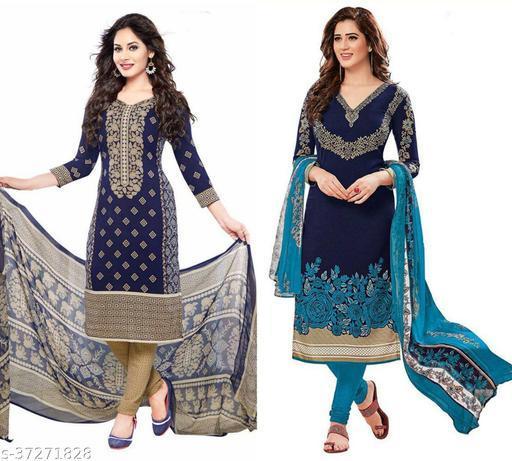 Priya Fancy Dress Material For Women (pack of 2)