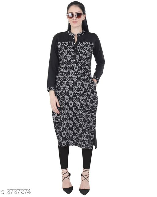 Kurta Sets Women's Printed Wool Kurta set with Legging  *Fabric* Woolen  *Sleeves* Sleeves Are Included  *Size* Kurti  *Length* Kurti - Up To 44 in, Legging - Up To 38 in  *Type* Stitched  *Description* It Has 1 piece Of Kurti with 1 Piece Of Legging  *Pattern* Kurti - Printed, Legging - Solid  *Sizes Available* M, L, XL, XXL, XXXL, 4XL *   Catalog Rating: ★4.7 (51)  Catalog Name: Women's Printed Wool Kurta Sets CatalogID_522460 C74-SC1003 Code: 1011-3737274-