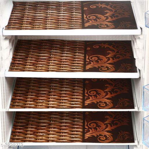 Home Trendy Appliance Fridge Mat ( Set Of 4)