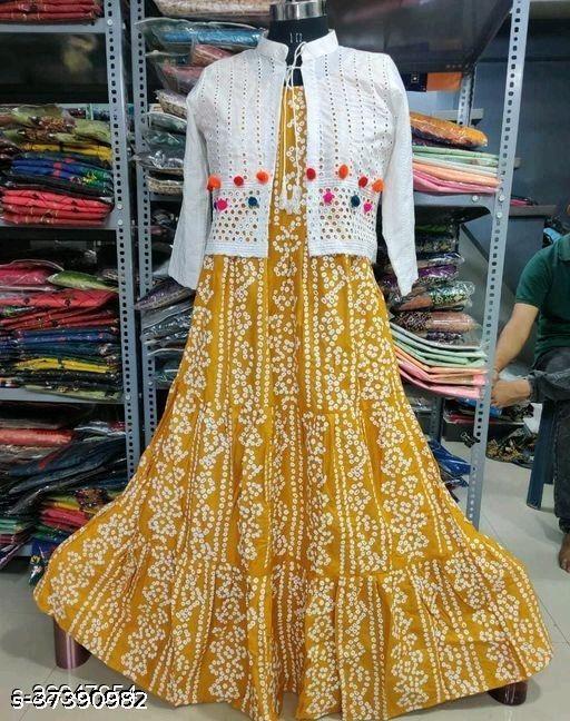 yellow koti kurti old ###