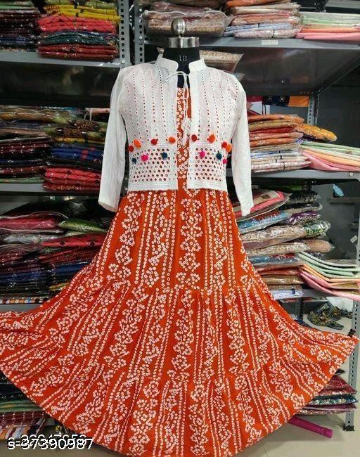 orange koti kurti old ###
