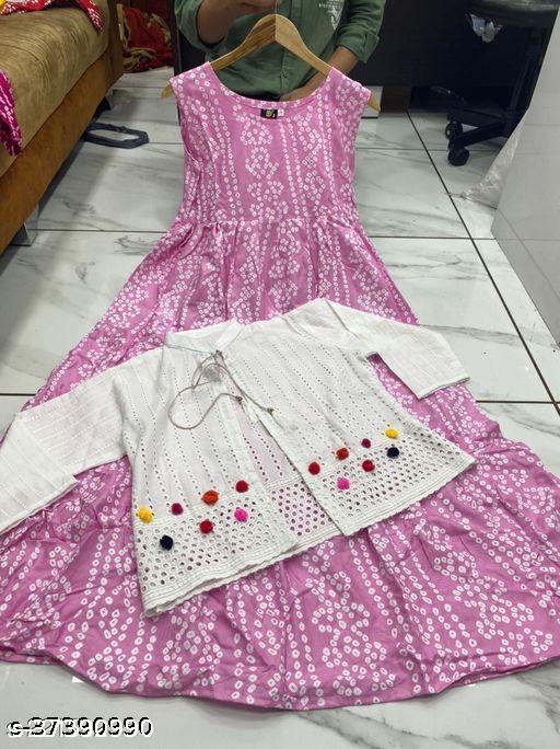 light pink koti kurti old ###