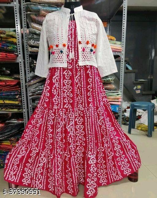 pink koti kurti old ###