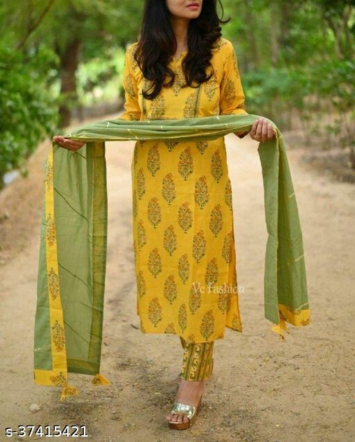 kurti with pant Full duppta with gota less with prnterd