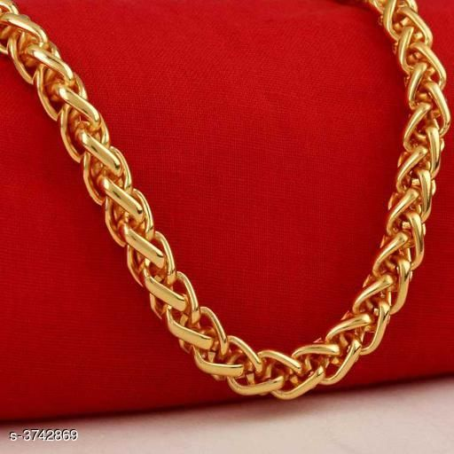 Brass Gold Plated Men's Chain