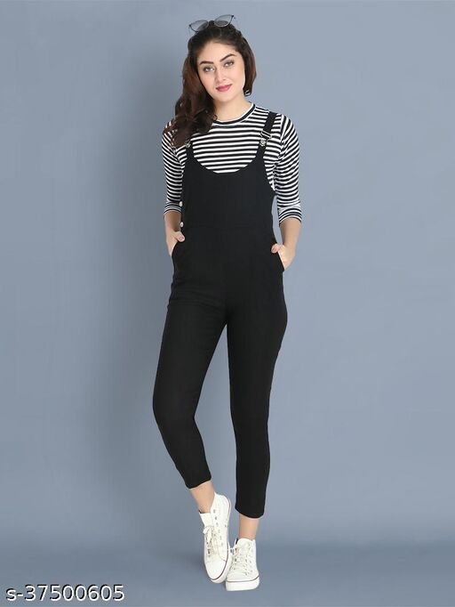 Dungaree Pant with Top For Women