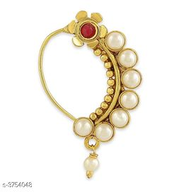 Attractive Pearl Women's Pierced Nose Ring