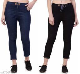 Trendy Denim Women's Jeans ( Pack Of 2 )