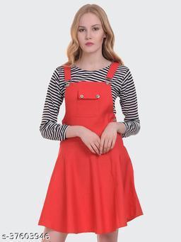 Women Dungaree Dress with Top