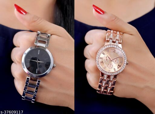 Sizzling New Design Pack of 2 Analogue Women Watches Combo