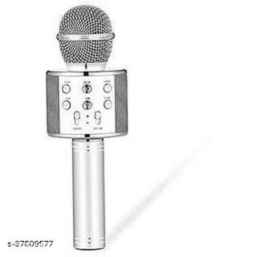 Mic Handheld Wireless Microphone Mic with Audio Recording Bluetooth Speaker & Karaoke Feature for All Smartphones & Tablets