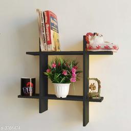 Wooden Floating Wall Shelf Wall Beautiful Hanging Rack