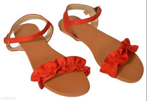Flats Trendy Fancy Women's Flat Sandal  *Material* Outer Material   *IND Size* IND - 3, IND - 4, IND - 5, IND - 6, IND - 7   *Color* Red   *Description* It Has 1 Pair Of Women's Flat Sandal  *Sizes Available* IND-3, IND-4, IND-5, IND-6, IND-7 *   Catalog Rating: ★3.1 (8)  Catalog Name: Trendy Fancy Women's Flat Sandals Vol 2 CatalogID_527785 C75-SC1071 Code: 063-3769587-999