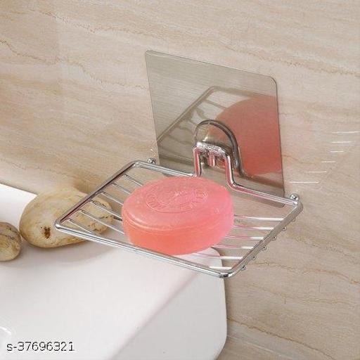 Stainless Steel Self Adhesive Magic Sticker Series Metal Soap Holder