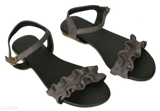 Flats Pretty Synthetic Leather Women's Flat Sandal  *Material* Outer Material - Synthetic Leather, Sole - TPC   *IND Size* IND - 3, IND - 4, IND - 5, IND - 6, IND - 7   *Color* Grey   *Description* It Has 1 Pair Of Women's Flat Sandal  *Sizes Available* IND-3, IND-4, IND-5, IND-6, IND-7 *   Catalog Rating: ★3.7 (24)  Catalog Name: Diya Pretty Synthetic Leather Women's Flat Sandal Vol 10 CatalogID_527894 C75-SC1071 Code: 223-3770277-999