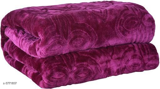 Beautiful Trendy Polyester Double Bed Blanket