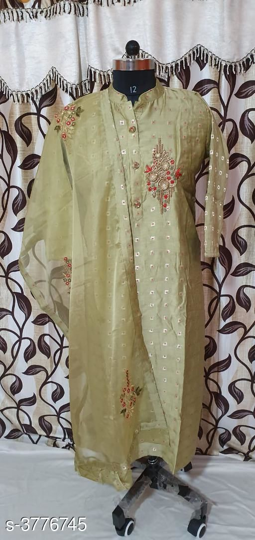 Kurta Sets Chanderi Silk Women's Kurtis With Dupatta  *Fabric* Kurti - Chanderi Silk,  Dupatta - Chanderi Silk  *Sleeves* Sleeves Are Included  *Size* XXL- 44 in,  Dupatta Size - 2 Mtr  *Length* Up To 46  in  *Type* Stitched  *Description* It Has 1 Piece Of Women's Kurti With Dupatta  *Work* Embroidery  *Sizes Available* Free Size, XXL   SKU: 17 Free shipping is available for this item. Pkt. Weight Range: 300  Catalog Name: Gorgeous Chanderi Silk Women's Kurtis With Dupatta Vol 7 - SILPA ETHNIC CENTER Code: 0661-3776745--