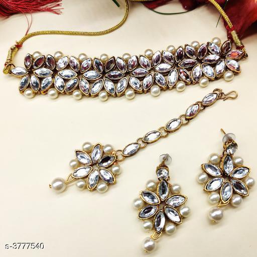 Women's Kundan work Jewellery Set