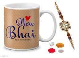 Beautiful Designer Mugs With Rakhi