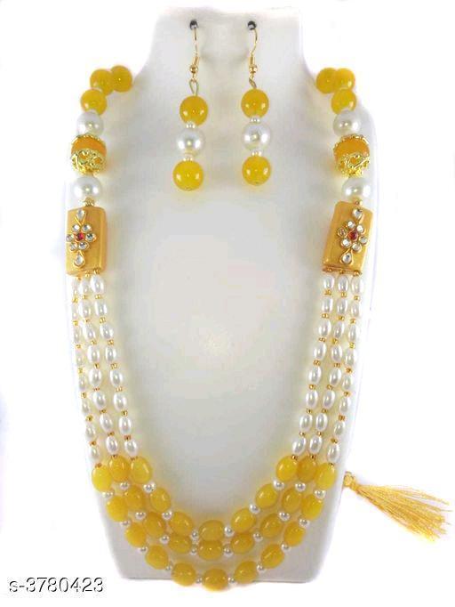 Mulilayer Kundan Work Beaded Long Necklace