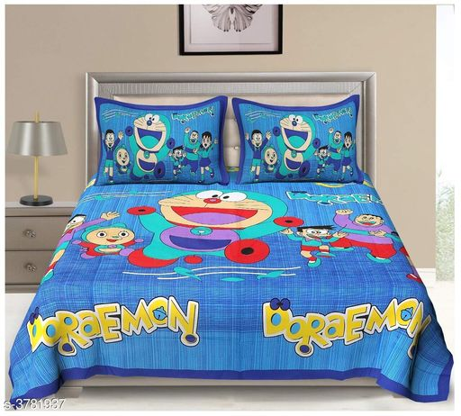 Attractive 100% Cotton Printed Double Bedsheet