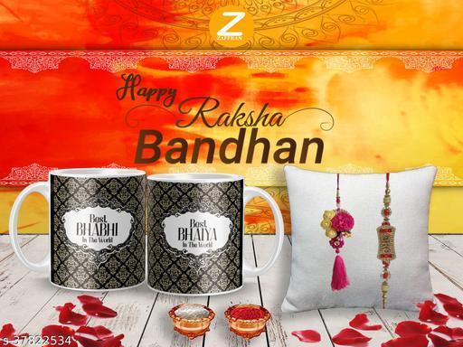 Shimmering Fusion Rakhi Rakhi With Gifts