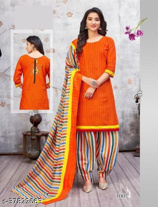 MG Pure Cotton Printed With lining Stitched Salwar Suits Set (Readymade)
