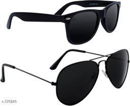 Stylish Unisex Poly Carbonate Sunglasses(Pack Of 2)