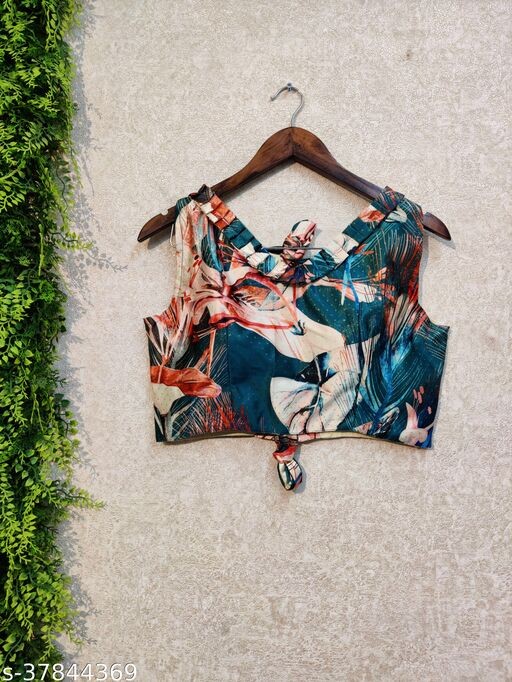 KAHIRAAS DIGITAL PRINT FULL STICHED UP TO 42 INCH ALTERABLE MARGIN CROP TOP BLOUSE