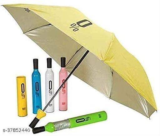 Delson Bottle Cover Waterproof Ultra Protective UV Mini Portable Umbrellas(Assorted Colour)