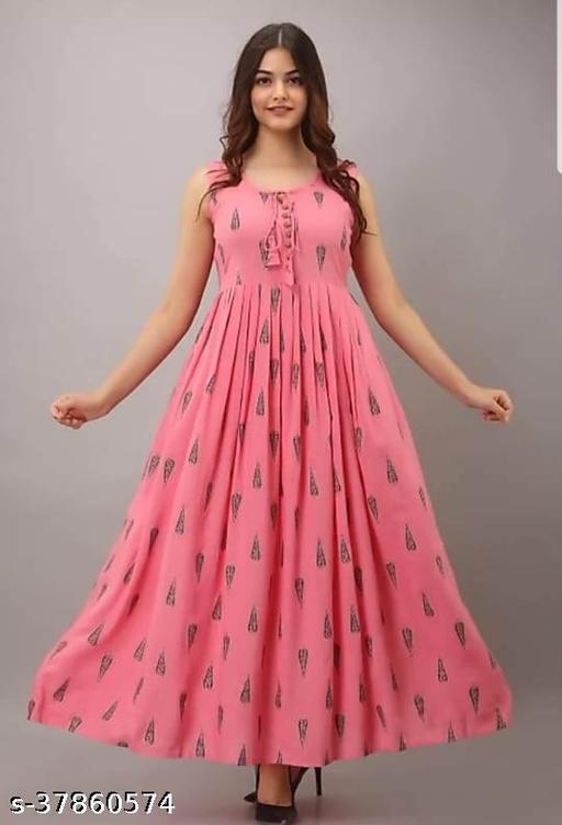 Peach sleeveless kurti for women