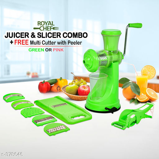 Combo of Fruit Juicer & Veg Cutter & 6 in 1 Slicer Grater