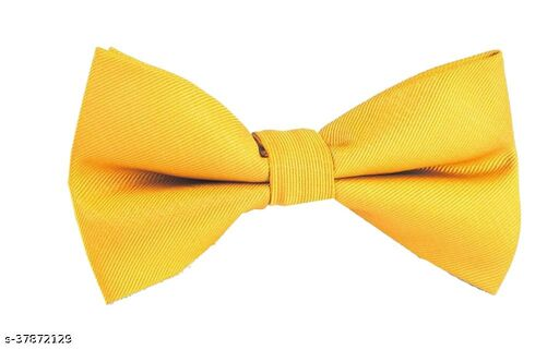 RR design Neck bow tie combo for infantssuitable for parties/Wedding/Formal ocassion-Banna Yellow(New born- 24 Months)