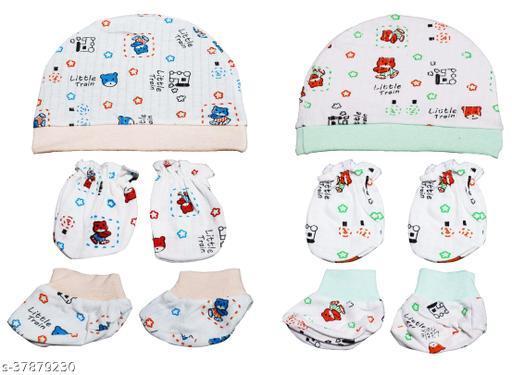 NEEBA Multi-Colored Unisex Mittens for Newborn (Baby Boy/Baby Girl) Pack of 2