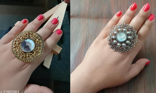 Beautiful Oxidised Combo Adjustable Ring
