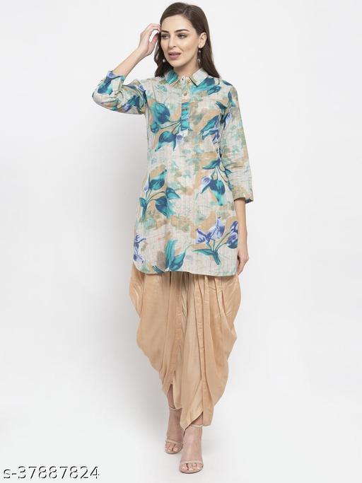 Jompers Women's Cotton Straight Kurti