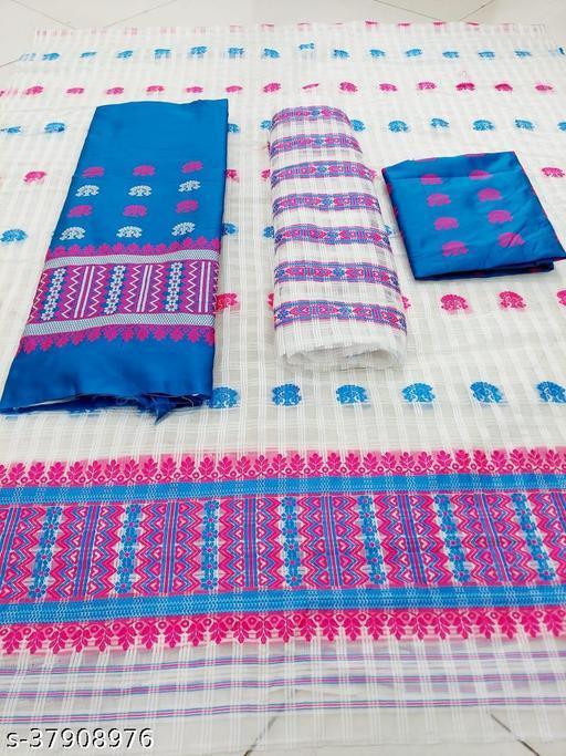 Assamese Mekhala chador Nooni cotton style