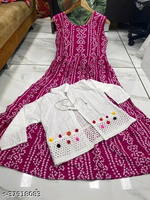 Trendy women's jacket gown