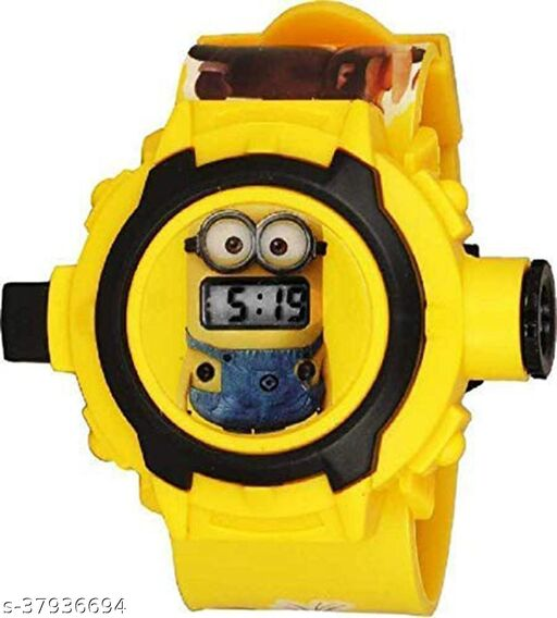 Minions 24 Images Digital Display Projector Cartoon Display Watch for Kids