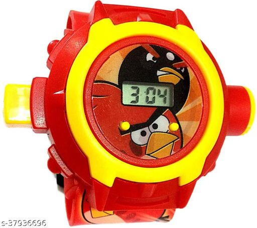 Angry Bird 24 Images Digital Display Projector Cartoon Display Watch for Kids