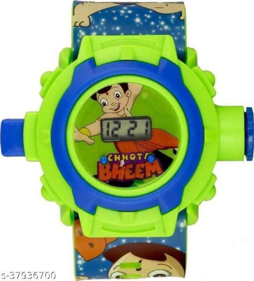 Chota Bheem 24 Images Digital Display Projector Cartoon Display Watch for Kids