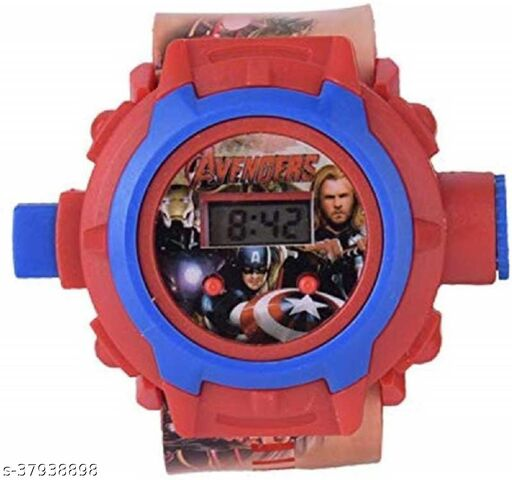 Avengers 24 Images Digital Display Projector Cartoon Display Watch for Kids